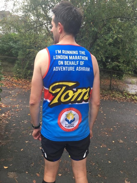 Tom backview Marathon shirt