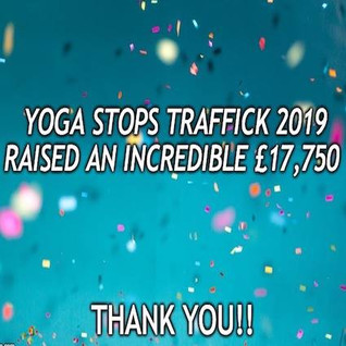 We Are Absolutely Thrilled To Announce The Total Raised Through Yoga Stops Traffick 2019!!!