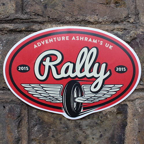 UK Rally 2015 Large Oval Emblem/Plate
