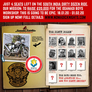 Only 4 Royal Enfield places left! Join the #DirtyDozen for an epic adventure in South India Jan 18th