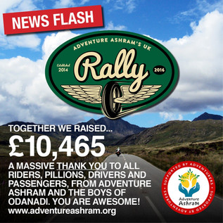 UK Rally raises £10,465 and celebrates its incredibly generous supporters