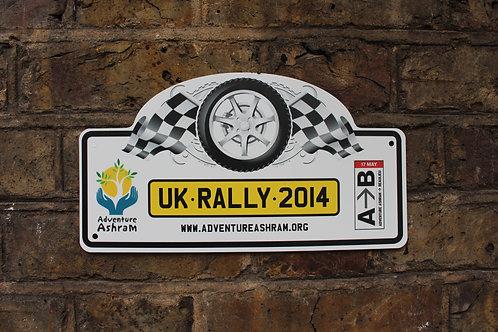 UK 2014 Large Rally Plate