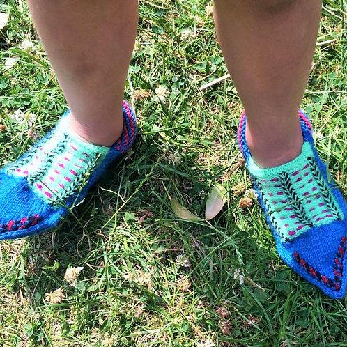 Bright Blue Kids Socks