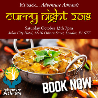 Join us at our famous Curry Night on Saturday 13th October. ONLY A FEW TICKETS LEFT. BOOK NOW!