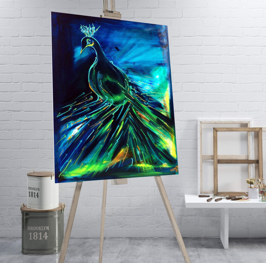 peacock. - SOLD