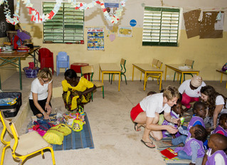 Remise de fournitures scolaires à l'école maternelle de CAP 2 !