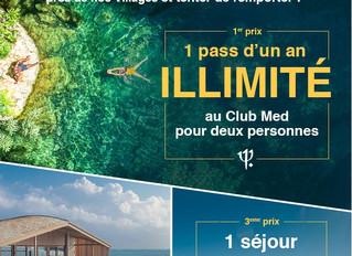 Tombola solidaire avec notre partenaire la Fondation Club Med : 1 an de vacances à gagner !