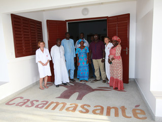 Visite du Poste Casamasanté avec l'IEF