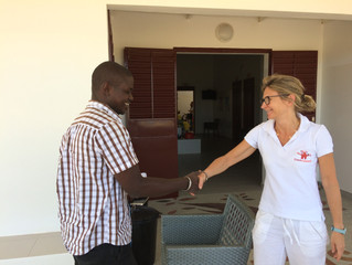 Réunion entre Dr Senghor, Médecin Chef du District et l'équipe Casamasanté !