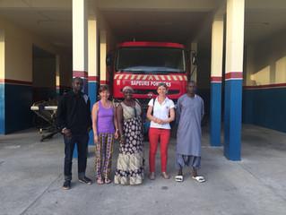 Rencontre avec le Commandant de la caserne des Sapeurs-Pompiers et don de matériel médical