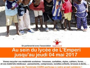 Collecte de matériel scolaire et médical à Aix-en-Provence