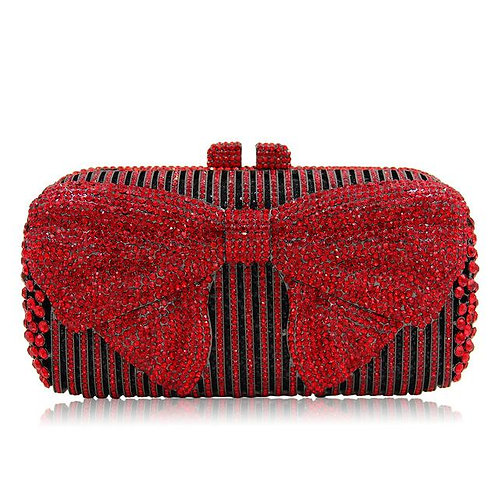 Red Bow Luxury Clutch