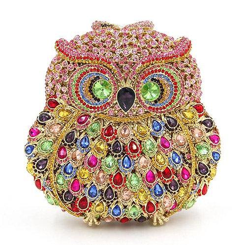 Mosaic Owl Luxury Clutch
