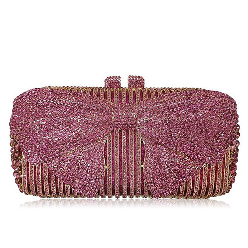 Pink Bow Luxury Clutch