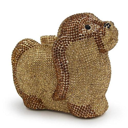 Golden Puppy Luxury Clutch