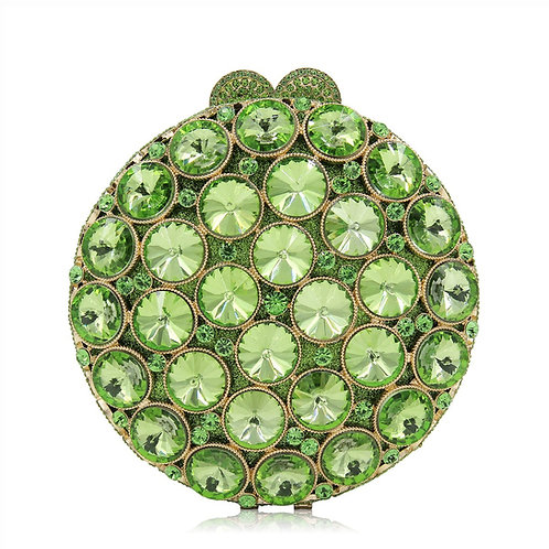 Lime Roulette Luxury Clutch