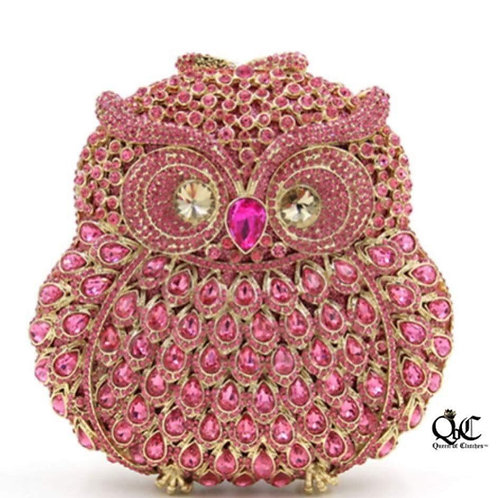 Pink Owl Luxury Clutch