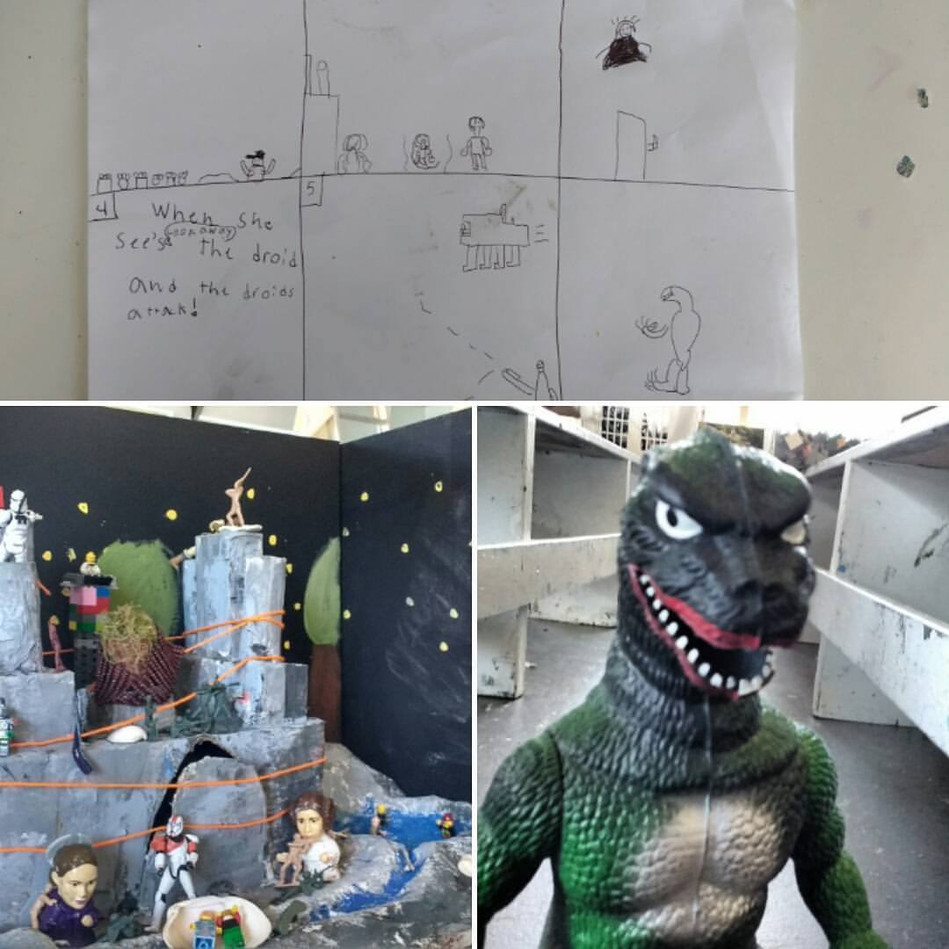 Stop motion animation workshop at Kelly Cat Studio, Comoc BC