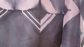 Shiboritørklæde - detalje