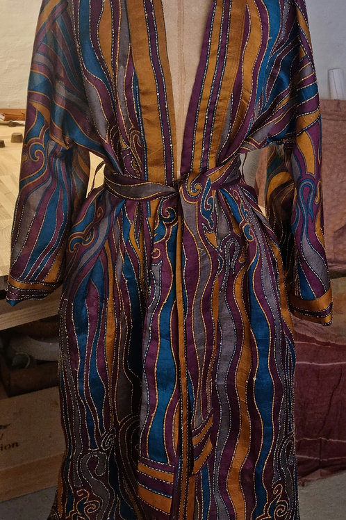 Kimono i vintagesilke, L