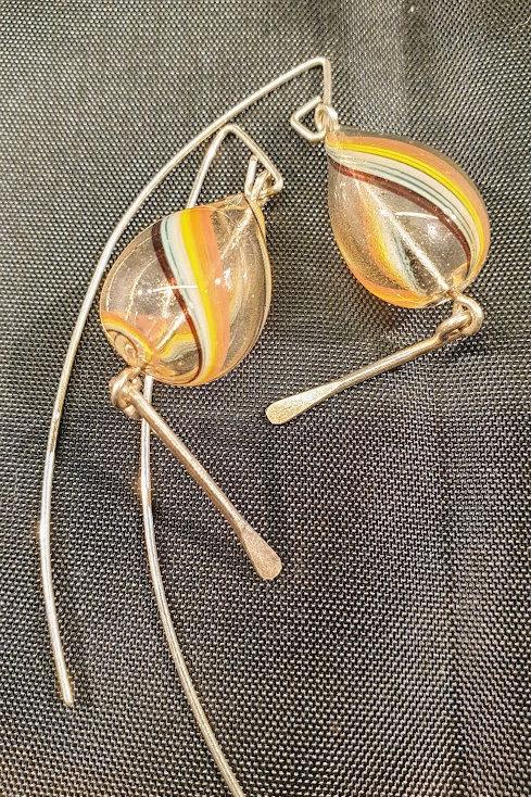 Øreringe, glas