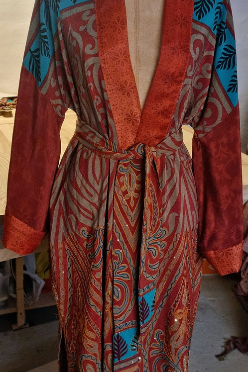 Kimono i vintagesilke, str M