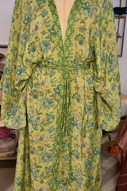 Kimono i vintagesilke, str XL