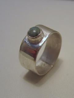 Opalring i sterling sølv