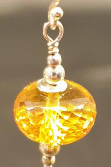 Øreringe, citrin