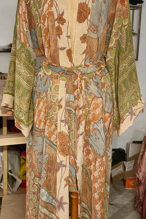 Kimono i vintagesilke , str XL