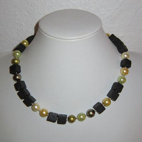 Lava/shell beads