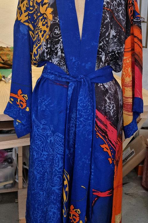 Kimono i vintagesilke, str L