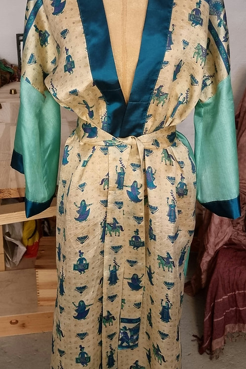 Kimono i vintagesilke, str S/M