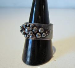 Oxyderet ring i sterling sølv