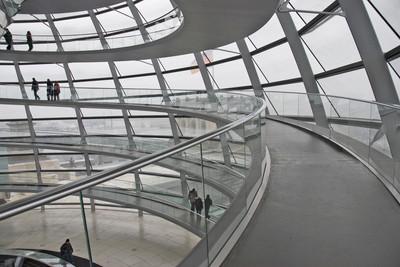 Reichstag, Interior of Dome, Berlin, 2009.