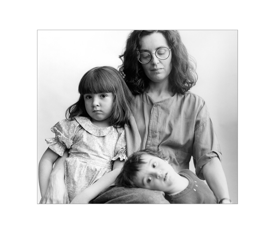 Penny with her daughter, Zoe and son, Dylan, Ottawa, Archival Print, 1985