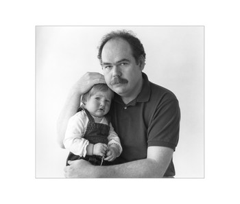 Patrick with his daughter, Erin, North Battleford, Archival Print, 1988