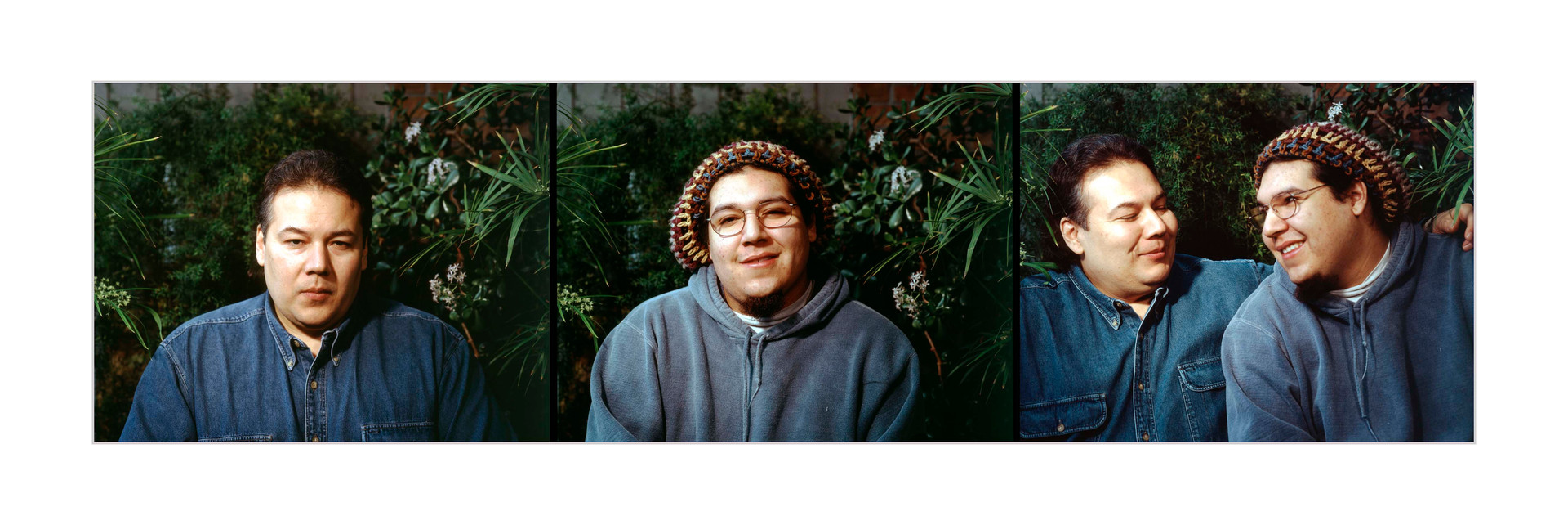 Father/Son Triptych, Jeff and his son, Bear, Ottawa, Ilfochrome print, 1998.