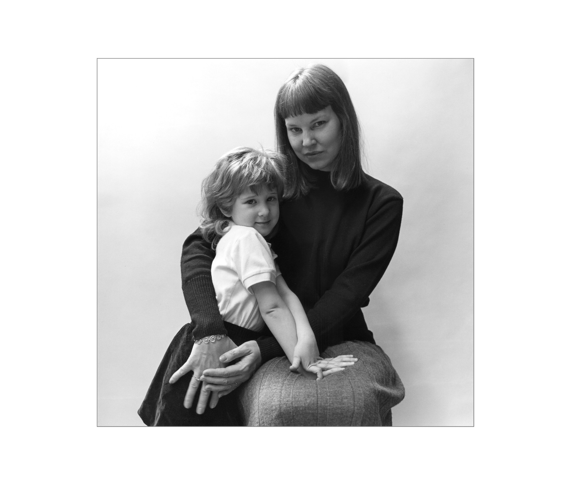 Marjory with her daughter, Laura, Ottawa, Archival Print, 1989.