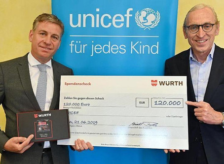 Würth Group donates 120.000 euro to UNICEF