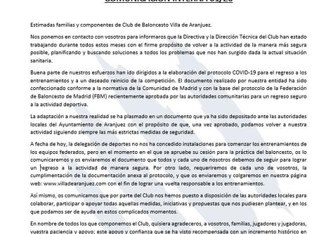 COMUNICACIÓN INTERNA. Presentación al Ayuntamiento Protocolo COVID