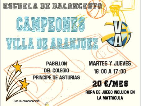 Nace la Escuela Campeones Villa de Aranjuez