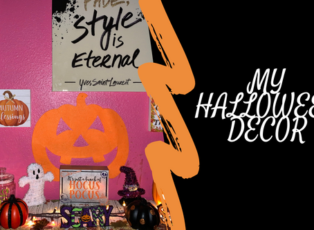 Happy October|My Halloween Decor