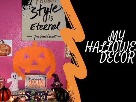 Happy October|My Halloween Decor