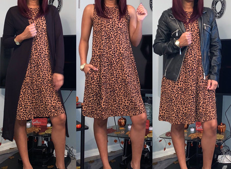 Fall Style|Leopard Dress|Styled 3 Ways