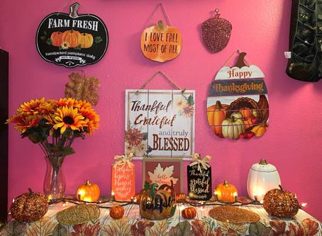 My Thanksgiving Decor