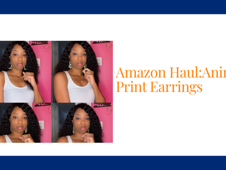 Amazon Haul:Animal Print Earrings