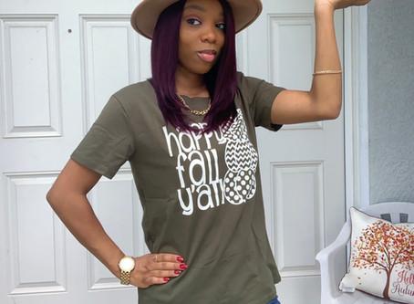 Fall Style|Happy Fall Yall|Fall T-Shirt From Amazon