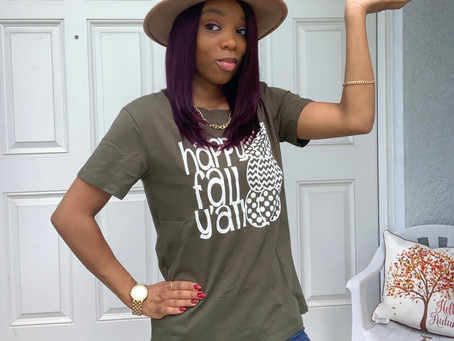 Fall Style|Happy Fall Yall|Fall T-Shirt From Amazon