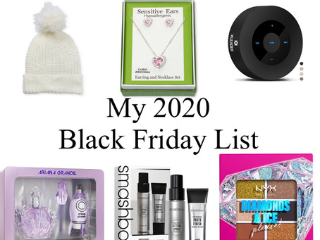My 2020 Black Friday List